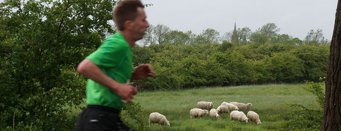 sporten in het groen